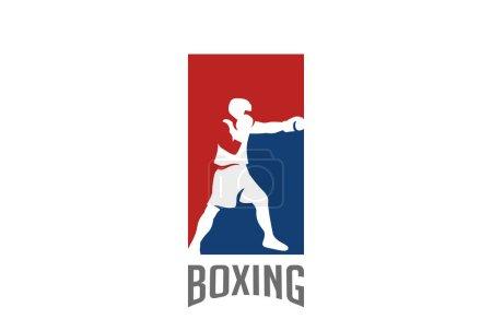 Boxer silhouette Logo