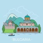 Bulgaria country design template, vector illustrat...