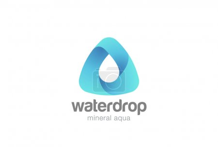 Water drop in triangle abstract Logo design vector template