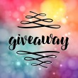 Giveaway lettering for promotion in social media w...