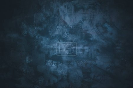 Photo pour Magnifique fond mural bleu texturé et abstrait. Lieu pour le texte. - image libre de droit