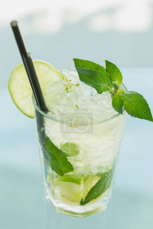 Photo for Cocktails drinks standing on the bar counter - Royalty Free Image