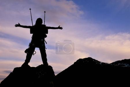 Photo pour Liberté, cible les gens ambitieux et réussi succès - image libre de droit