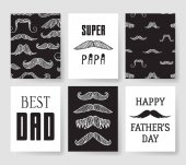 Set of templates for cards Hand drawn vector patterns design flyers for Happy Fathers Day