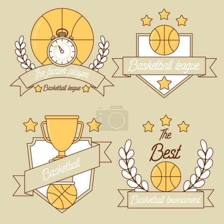 Basketball line logo design