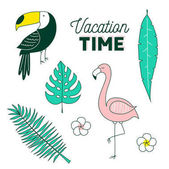 Vacation time tropical set