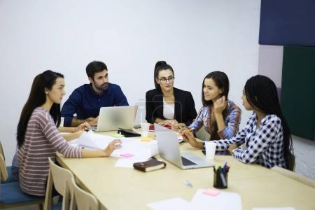 Journalists analyzing work