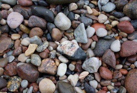 Photo pour Belle pierre sur Baltic Beach Curonian Spit fond - image libre de droit
