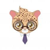 Hipster Leopard illustration art