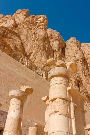 Ancient columns. The Temple Of Hatshepsut....