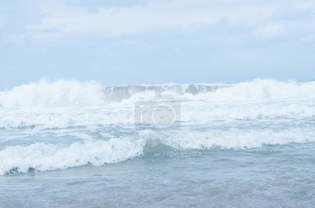 Photo for Beautiful view of the blue sea waves. Journeys. Sea breeze - Royalty Free Image
