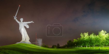 Photo for Motherland monument in Stalingrad, Russia. 9 May Russian military holiday - Victory Day. - Royalty Free Image