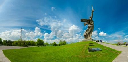 ein Teil des Mamajew Kurgan und des Mutterland-Denkmals in Stalingrad (23. Februar, 9. Mai)).