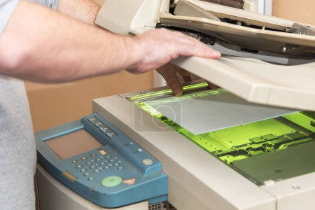 Copying and scanning documents on a machine