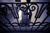 Old iron bannister in an historical house