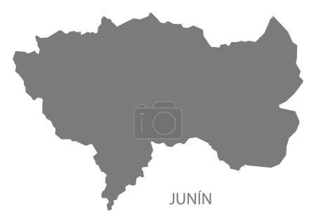 Junin Peru Map grey