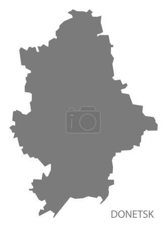Donetsk Ukraine Map grey