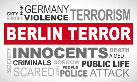 Berlin terror in Germany - word cloud english