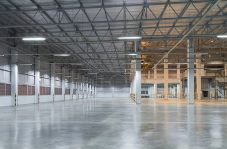Photo for Empty factory building or warehouse building with concrete floor for industry background. - Royalty Free Image