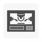 Cnc milling machine icon