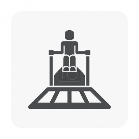 Illustration pour Plaque de béton coulée et icône de l'équipement . - image libre de droit
