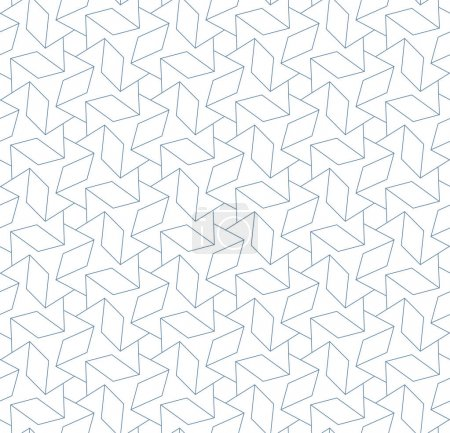 Illustration for Abstract seamless pattern. Linear texture of thin blue lines on the white background. - Royalty Free Image