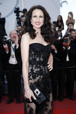 Photo for CANNES, FRANCE - MAY 22: Andie MacDowell attends 'The Killing Of A Sacred Deer' premiere during the 70th Cannes Film Festival on May 22, 2017 in Cannes, France. - Royalty Free Image