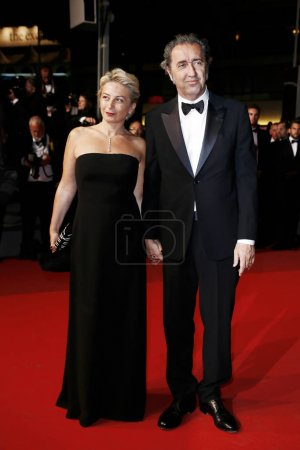 Photo for CANNES, FRANCE - MAY 26: Daniela D'Antonio and Paolo Sorrentino attend the 'In The Fade' premiere during the 70th Cannes Film Festival on May 26, 2017 in Cannes, France. - Royalty Free Image