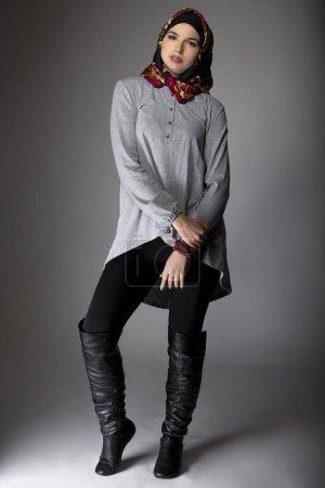 Female Modeling Hijab Fashion