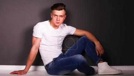 Studio fashion portrait young man