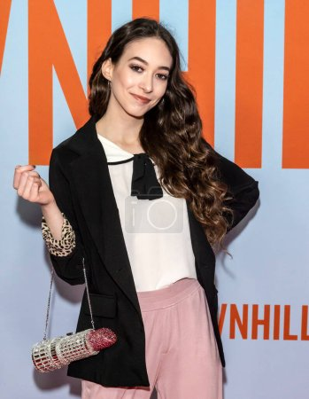 """Photo for New York, NY - Feb 12, 2020: Sasha Anne attends the premiere of """"Downhill"""" at SVA Theater. - Royalty Free Image"""
