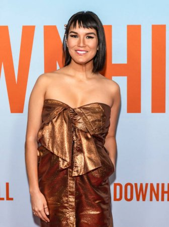 """Photo for New York, NY - Feb 12, 2020: Zoe Chao attends the premiere of """"Downhill"""" at SVA Theater. - Royalty Free Image"""