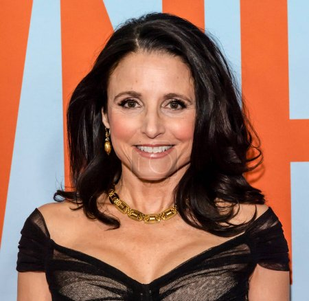 """Photo for New York, NY - Feb 12, 2020: Julia Louis-Dreyfus attends the premiere of """"Downhill"""" at SVA Theater. - Royalty Free Image"""