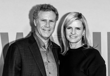 """Photo for New York, NY - Feb 12, 2020: Will Ferrell and Viveca Paulin attend the premiere of """"Downhill"""" at SVA Theater. - Royalty Free Image"""