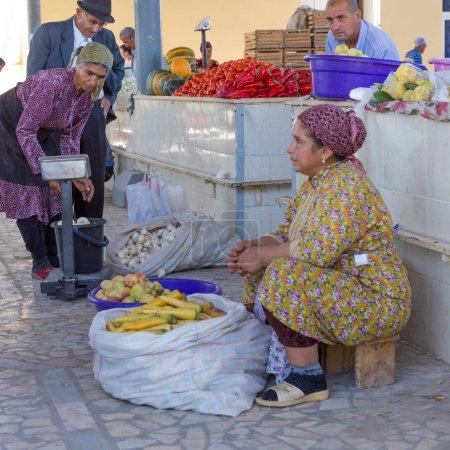 Food market of Khiva, in Usbekistan