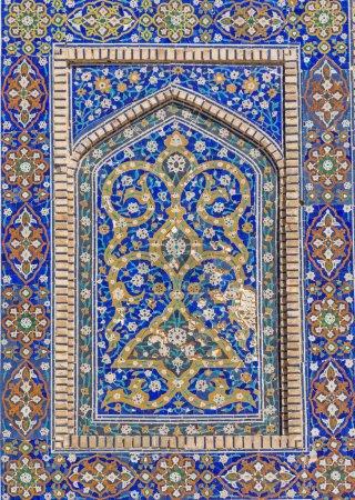 Detail of Mir-i-Arab Madrasa in Bukhara (Buxoro), Uzbekistan