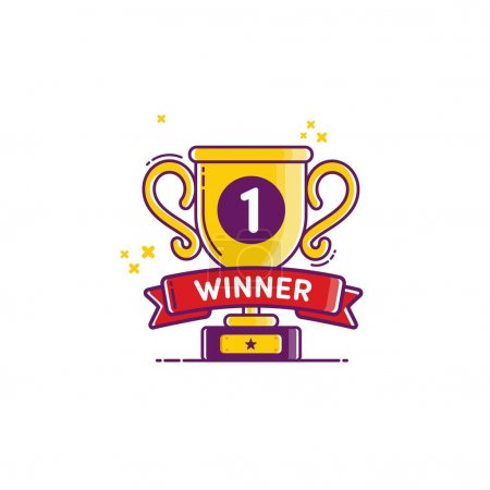 Winner golden cup icon