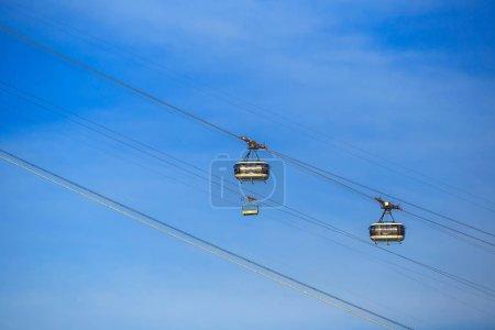 Sugar Loaf Mountain cable car in Rio de Janeiro...