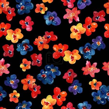 Photo for Flowers set. hand drawn illustration. - Royalty Free Image