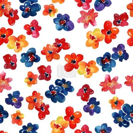 Photo pour Fleurs ensemble. illustration dessinée à la main. - image libre de droit