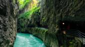 The Aare Gorge in Switzerland