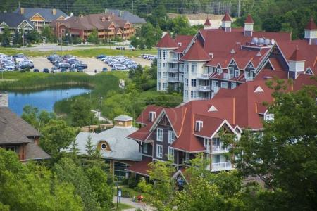 Blue Mountain resort and village during the summer in Collingwoo