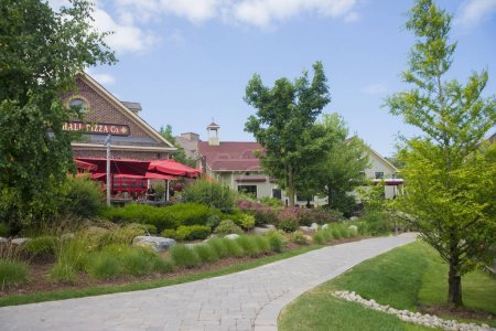 COLLINGWOOD, ON, CANADA - JULY 19, 2017: View of lodging and res