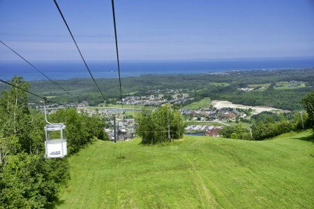 COLLINGWOOD, ON, CANADA - JULY 20, 2017: View of gondola chairli