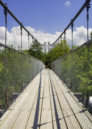 Suspension bridge in Collinwood, Ontario