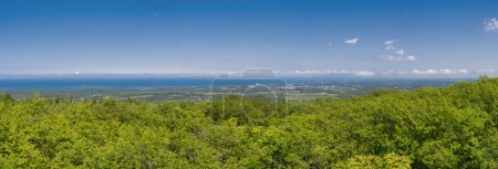 Panoramic view above Blue Mountain Ski Resort in Collingwood, On