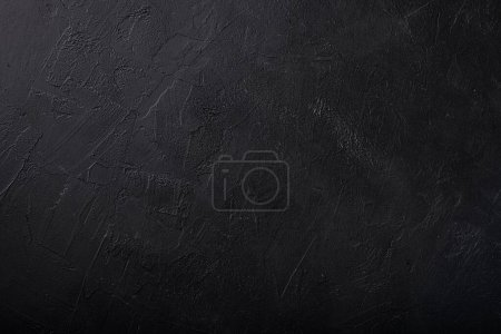 Photo for Black concrete wall background with putty texture - Royalty Free Image