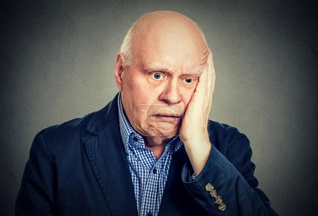 Photo for Portrait of elderly desperate sad man - Royalty Free Image