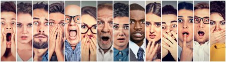 Photo for Multiethnic group of scared people - Royalty Free Image