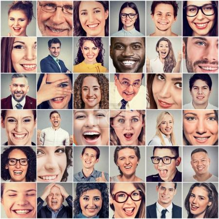 Photo for Smiles. Happy men and women - Royalty Free Image